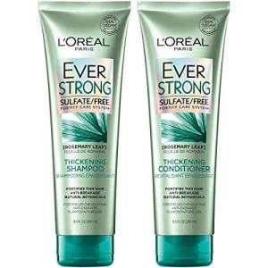 L'Oréal Paris Hair Care EverStrong Thickening Sulfate Free Shampoo & Conditioner