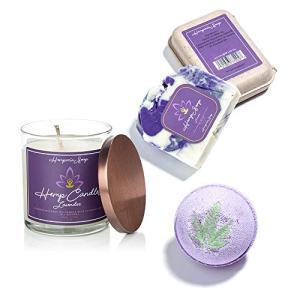 3-Piece Lavender Hemp Seed Oil Spa Trio