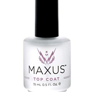 Maxus Nails Top Coat Nail Polish with High Shine, Quick-Drying