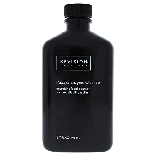 Revision Skincare Papaya Enzyme Cleanser   Energizing facial cleanser for naturally vibrant skin Gently polishes away dead surface cells Nourishes skin with Papaya Extract, rich in vitamins and minerals Cleanses without stripping the skin of its natural moisture content   This refreshing cleanser with Papaya Fruit Extract leaves skin smooth by lifting away impurities. The Papaya Fruit Extract contains Papain, an enzyme that gently exfoliates for naturally vibrant skin.