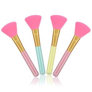Cuttte 4pcs Silicone Face Mask Brushes, Flexible Facial Mud Mask Applicator Brush