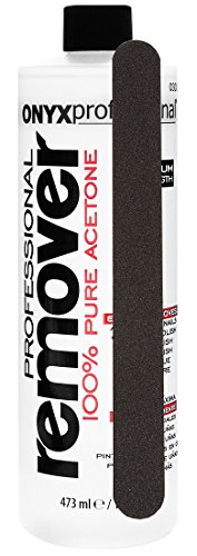 Onyx Professional 100% Acetone Nail Polish Remover with Nail File Removes