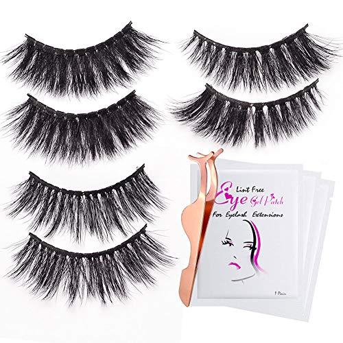 3D Fake Eyelashes-3 Styles False Eyelashes Reusable Naturally Handmade Soft