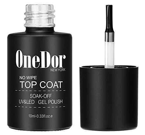 OneDor One Step No Wipe Top Coat Gel Polish, UV Led Cured Required Soak