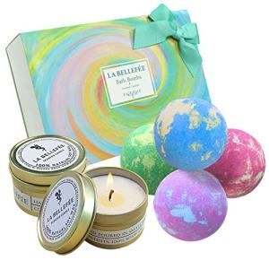 LA BELLEFÉE Bath Bombs Gift Set, Perfect for Bubble Bath Fizzy Spa