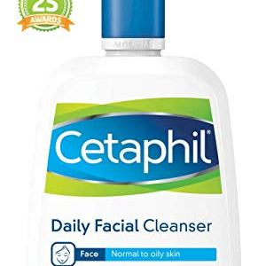 Cetaphil Daily Facial Cleanser for Normal to Oily Skin, Gentle Face Wash