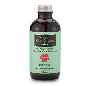 Karma Organic Nail Polish Remover-Tea Tree Oil Based Formula