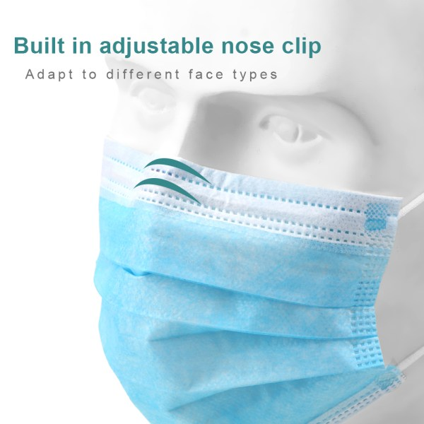 Hot Sale 50pcs 3-layer mask Face Mouth medical Masks Non Woven Disposable Meltblown surgical cloth fast shipping