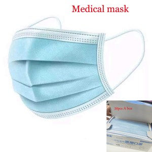 Hot Sale Medical Mask Fast Shipping Face Mouth Mask Three-Layer Non Woven Disposable Medical protect Dust Surgical Medical Masks