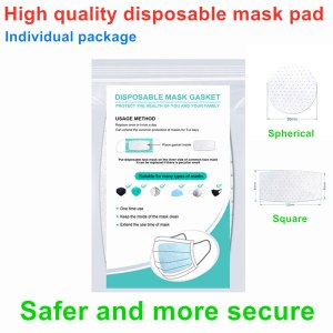 In stock 100pcs Disposable face surgical mask Pad Non-woven Haze Masks Universal Protective Breathable Pad Mask Inner Gasket