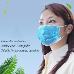 10pcs Disposable Protection Face Mouth Mask Non-Woven Fabrics Mask Anti-Dust Haze Hanging Ear 3-layer Filtration Mask