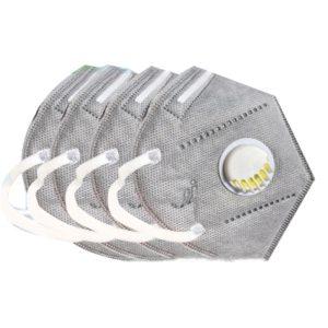2PCS/Set KN95 PM2.5 Respirator Face Mask Anti Flu Prevention Dust Pm 2.5 Filter Breathing Valve Mouth Masks