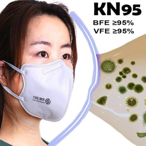 KN95 Mask Disposable Face Mask Mouth Mask 95% Filtration Non-woven Fabric Protective Masks for Dust Particles Pollution