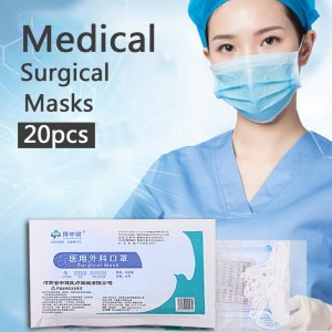 20pcs Disposable Medical Face Mouth Masks CE Certificated 3 Layer Meltblown Anti-bacterial Pollution Surgical Mask Respirator