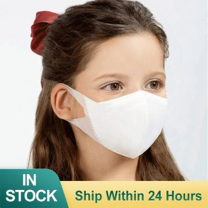 50pcs Children Face Mask Kids Medical Mask 3-Ply PM2.5 Nonwoven Dustproof Disposable Breathable Children Mask