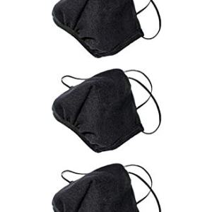 Los Angeles Apparel 3 Pack Fashion Black Mask [Same Day Shipping]