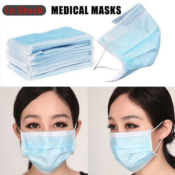 3 Layer Disposable Medical Mask Sterilization Sanitary Masks Anti Dust Breathable Earloop Protective Mouth Face Mask Fast Ships