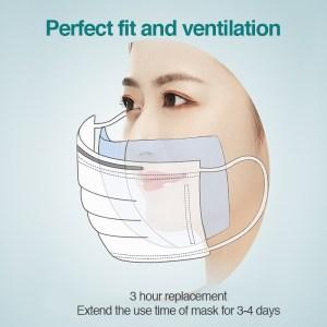 100/50 Pcs 3 Layer Kids Adult Face Mask Respirator Virus Masks Filter Disposable Filter Pad Suitable For N95 KF94 Mouth Masks