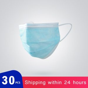 abay 30pcs Disposable Surgical Medical Mask 3-Ply Filter Anti-dust Non-Woven Nose Proof Earhook Face Mouth Masks