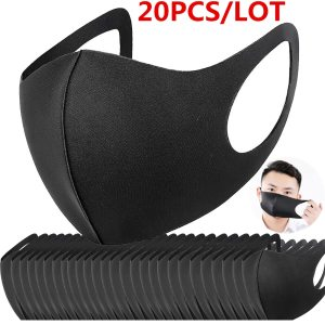 100/50 Pcs PM2.5 N95 Reusable Mouth FPP3 Mask Anti Haze Dust Mask Carbon Mouth-muffle Windproof Bacteria Proof Flu Face Masks