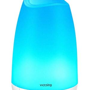 VicTsing 150ml Essential Oil Diffuser, 3rd Version Aromatherapy Diffusers Ultrasonic Cool Mist Humidifier with Sleep Mode, Waterless Auto-Off for Home Office Room Baby-White