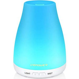 URPOWER 2nd Version, Aroma Cool Humidifier with Adjustable Mist Mode,Waterless Auto Shut-off and 7 Color LED Lights Diffuser Essential Oils for Home Office