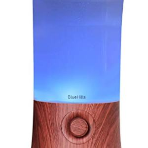 BlueHills Premium 2000 ML XL Large Essential Oil Diffuser Aromatherapy Humidifier for Large Room Home 40 Hour Run Huge Coverage Area 2 Liter Extra Large Capacity Huge Diffuser Dark Wood Grain (E003)