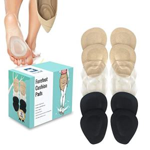(12 Pieces) Metatarsal Pads for Women High Heels   Ball of Foot Cushions 6 Pairs Foot Pads   Shoe Cushion Inserts for Pain Relief from Neuroma, Callus, and Bunions by BelugaCare
