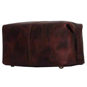 Leather Toiletry Bag for Men and Women - Practical Travel Dopp kit with Big Compartment for Storing all your Toiletries