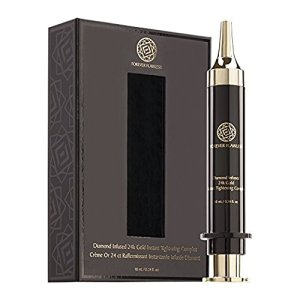 Forever Flawless Diamond Infused 24K Gold Instant Tightening Complex, Luxury Skin Care Serum for Instant Facelift, Anti Aging, Firmness, and Smooth Skin FF73