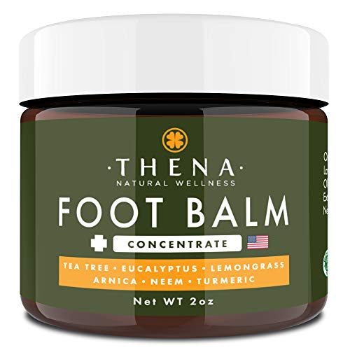 Tea Tree Oil Antifungal Cream Extra Strength, Athletes Foot Balm Dry Skin Cracked Feet & Heel Jock Itch Relief Toenail Fungus Treatment Callus Ringworm For Humans, Best Natural Anti Fungal Foot Care