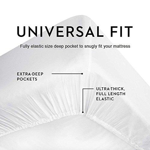 Linen Adda 4 PC Bed Sheet Set 400 TC 100% Egyptian Cotton Super Soft Long Staple Model: Linen Adda