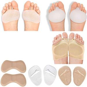 Metatarsal Pads Ball of Foot Cushions for Women mortons Neuroma Pads high Heel Cushion Inserts Silicone sesamoiditis Foot Pads Forefoot pad Callus Pads metarsal Support Shoe Pads for Women and Men