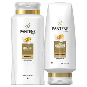Pantene Moisturizing Shampoo and Conditioner for Dry Hair, Daily Moisture Renewal, Bundle Pack, Bundle