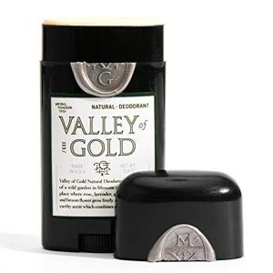 Valley of Gold Natural Deodorant - Aluminum & Paraben Free - Arrowroot Base - For Men & Women - Premium Fragrance - Woodsy - Rose - All Day - 2.6 oz.