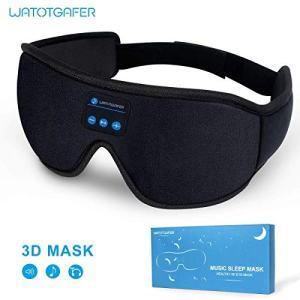 Sleep Headphones, Bluetooth 5.0 Wireless 3D Eye Mask, WATOTGAFER Sleeping Headphones for Side Sleepers, Washable Travel Music Play Adjustable Speakers Microphone Handsfree Long Play Time