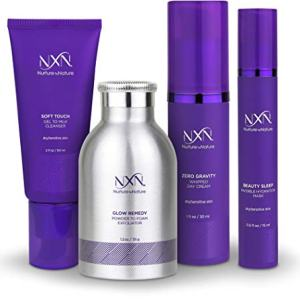 NxN Total Moisture 4-Step Anti-Aging Treatment & Dry Skin Facial System, Skin Care Kit with Moisturizer, Gentle Cleanser, Powder Exfoliator, Evening Face Mask - Hydrate Skin & Reduce Wrinkles
