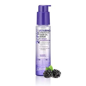 Giovanni Repairing Super Potion Hair Serum Blackberry & Coconut Restoring Treatment, No Sulfates, Color Safe, 2.75 oz. (Pack of 1)