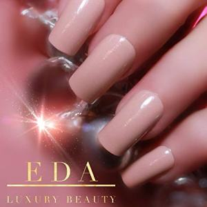 EDA LUXURY BEAUTY NATURAL BEIGE NUDE PINK GLAMOROUS Design Full Cover Press On Gel Glitter Artificial Nail Tips Shiny Acrylic False Nails Extra Long Ballerina Coffin Square Super Fashion Fake Nails
