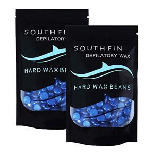 2PC Wax Beads, Hard Wax Beans, Waxing Beads, Body Waxing Kit for Women, Bikini Wax Beads, Underarms Wax, Chest Waxing Kit for Men, Legs Waxing Kit EAZsyn8 (0428-4, Blue)