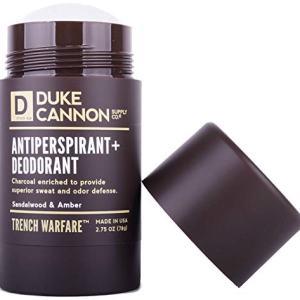 """Duke Cannon""""Trench Warfare"""" Antiperspirant + Deodorant for Men, 2.75 Oz - Sandalwood & Amber"""