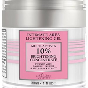 Divine Derriere Intimate Skin Lightening Gel for Body, Face, Bikini and Sensitive Areas - Skin Whitening Cream Contains Mulberry Extract, Arbutin, B-White Peptide 30ml / 1 oz.