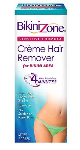 Bikini Zone Bikini Creme Hair Remover, Green Tea Fortified, Packaging May Vary, 2-Ounces (Pack of 3)