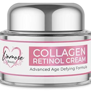 L'amore Beauty Collagen Retinol Cream (30 mL) Anti-Aging Day and Night Facial | Age Defying Skincare Firms and Lifts Wrinkles, Fine Lines | Hydrating Face, Neck, Decollete Moisturizer