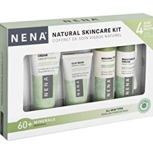NENA Natural Skincare Kit | 4-Piece Daily Skin Essentials for Women & Men - for dry, oily, normal and sensitive skin | EWG Verified, Cruelty Free & Vegan-friendly
