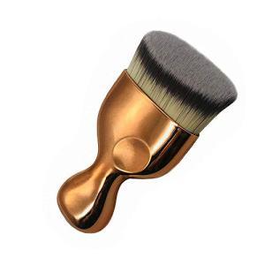 Angled Flat Foundation Brush High Density Face Body Kabuki Makeup Brush for Liquid Foundation Powder Cream Contour Buffing Stippling Blending