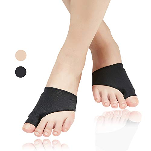 (4pcs) Bunion Relief Sleeve,Bunion Corrector with Soft Gel Pads REUSEABLE Bunion Splints Toe Spacer Socks Great for Hammer Toe,Hallux Valgus & Big Toe Joint, for Men and Women-Large/X-Large.