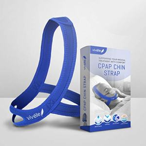 CPAP Chin Strap - for Men & for Women by Vivélle, Slim Non-Slip, Adjustable, Premium Snore Stopper Device That Helps You Breath Right (Medium)