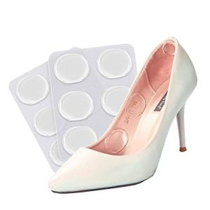 Gel Heel Pads [12 PCS] Soft High Heel Pads Shoe Pads Silicone Gel Heel Cushion Inserts for Women Foot Care Shoe Inserts Pad Insoles, Prevent Back Heel Pain and Improve Loose Shoe Fit, Self-Adhesive