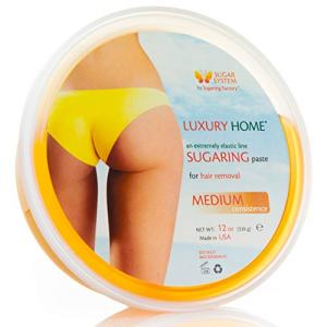 """Sugaring Paste""""Luxury HOME"""" – MEDIUM all purpose paste - Organic Hair Removal for women - Sugar Wax hair remover facial gel NEW DESIGN same product"""